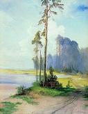 Летний пейзаж. Сосны. 1880-е